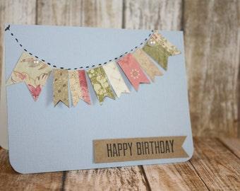 Bunting banner happy birthday card