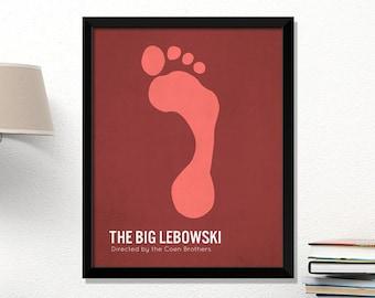 Big Lebowski movie poster, minimalist, cinema, Big Lebowski, Coen Brothers, contemporary art