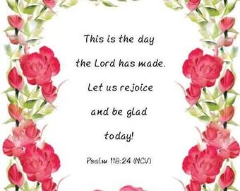 Psalms 118:24/8x10 Printable Download