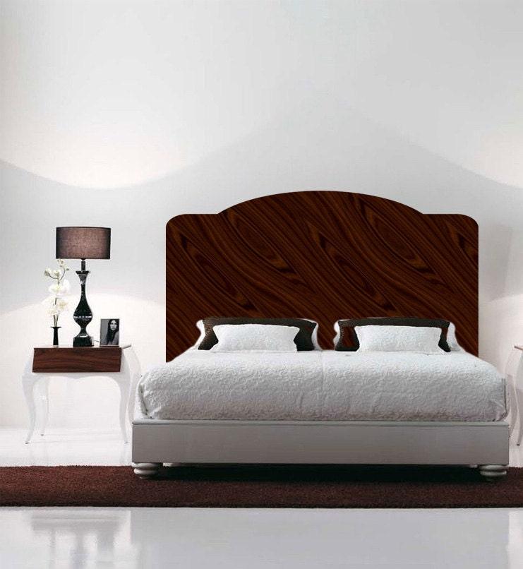 Mahogany headboard wall decal headboard for the bedroom wall for Mural headboard