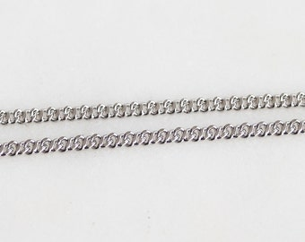 B5-101-R] Rhodium plated / 2.1mm / Cable Chain / 1 meter
