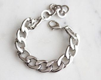 B5-502-R] 14 x 19mm / Rhodium plated / Pre-Made Bracelet / 1 piece(s)