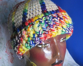 Custom Crochet Cap | Taste The Rainbow