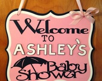 Baby shower door sign, baby shower decoration, baby shower,door sign