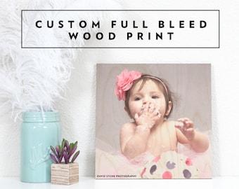 Custom Photo Wood Print - Custom Wood Wall Art, Custom Nursery Decor, Wooden Wedding Gift, Wood Anniversary Gift, Wood Photo Print