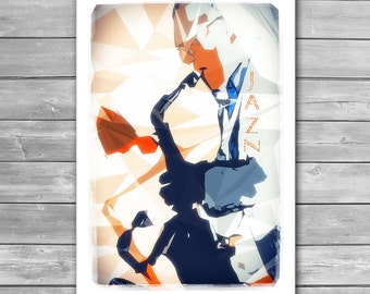 Jazz Sax Poster, Music Illustration, Jazz Art, Saxophone, Jazz, Wall Decor, Fine Art Print, Jazz Print, Jazz Posters, Music Poster, Prints
