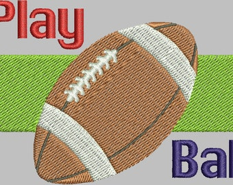 "Football ""Play Ball"" - Digital embroidery design"