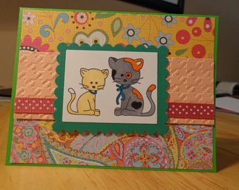 Cat pair card