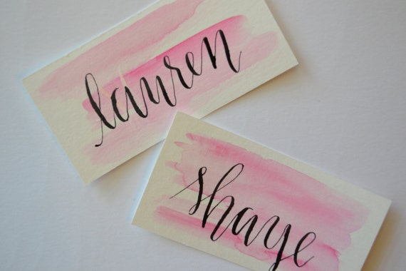 Items similar to wedding calligraphy place card