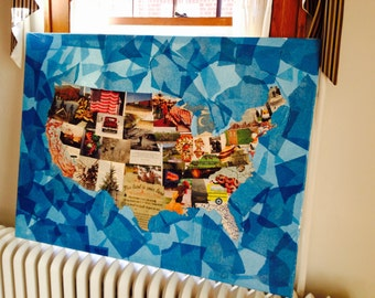 Mixed Media USA Map
