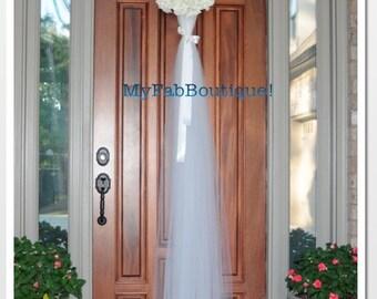 IVORY Rustic Wreath,Bridal Decoration,ivory Wedding Decoration, Door Decoration, wreath Door Decorations  Rustic Wedding Wreath.