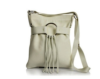 Genuine cow leather handmade crossbody bag