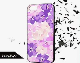 FLORAL Iphone 6 case Flower Iphone 5 case Girly Iphone 6 plus case Handmade Iphone 5c case Nature Iphone 5s case Purple Iphone 4 case cover