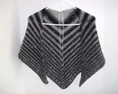 Sequin Black and Grays Shawl