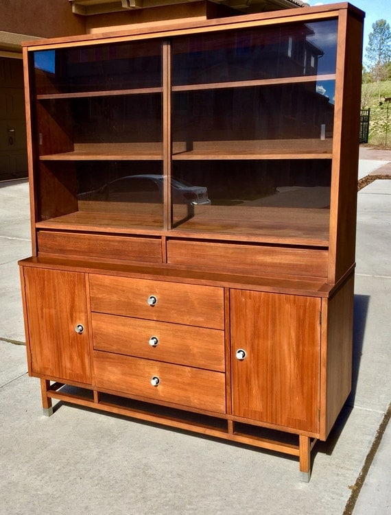 Items similar to SOLD Vintage Stanley Hutch/China Cabinet on Etsy