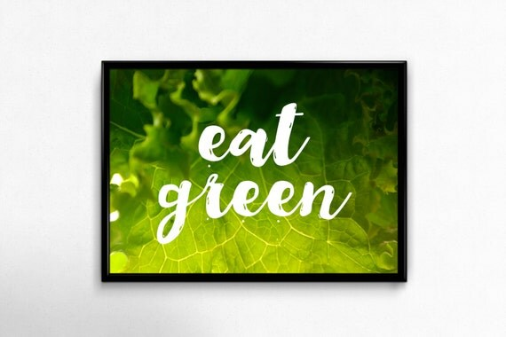eat green dining room art wall decor kitchen by
