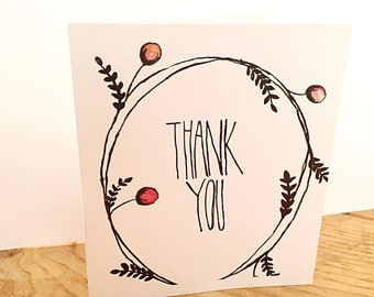 Hand Painted Thank You Card
