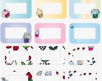 Digital frames. Cupcakes