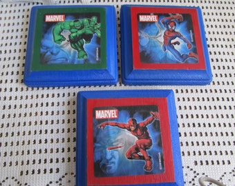 Marvel Characters Wood Plaques, Wall Hangings, Birthday Gifts, Wall Decor, Gifts for boys, Boys room decor, Kids room decor