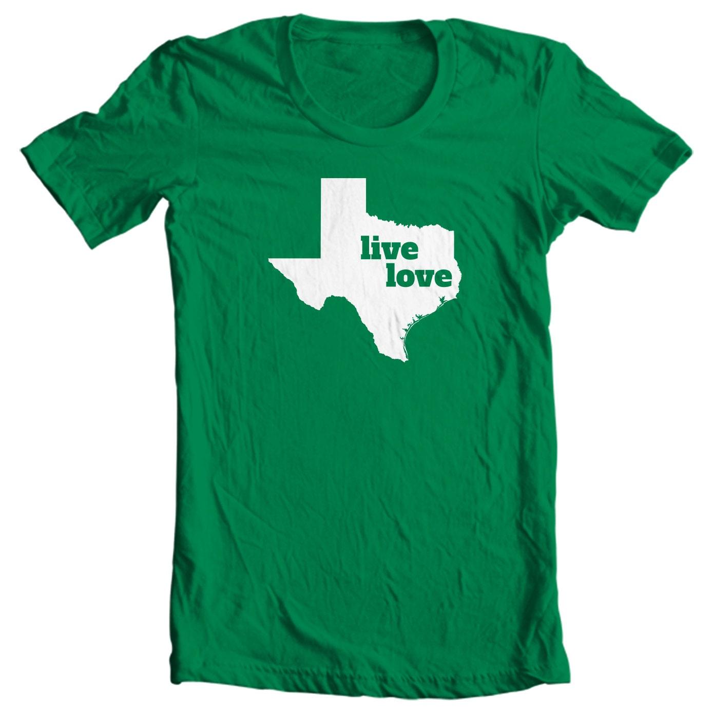 Texas T-shirt - Live Love Texas - My State Texas T-shirt