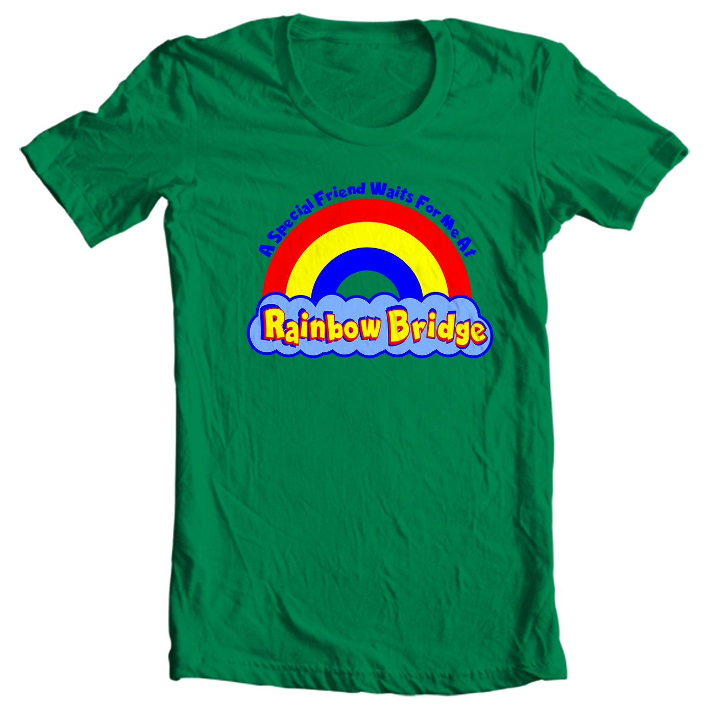 A Special Friend Waits For Me At Rainbow Bridge T-shirt - Only Shih Tzus