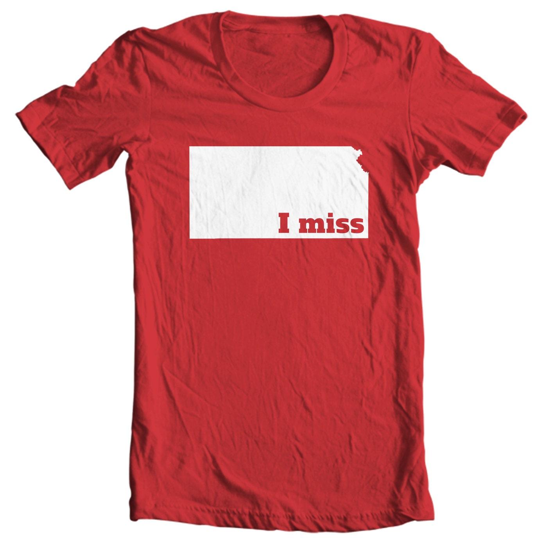 Kansas T-shirt - I Miss Kansas - My State Kansas T-shirt