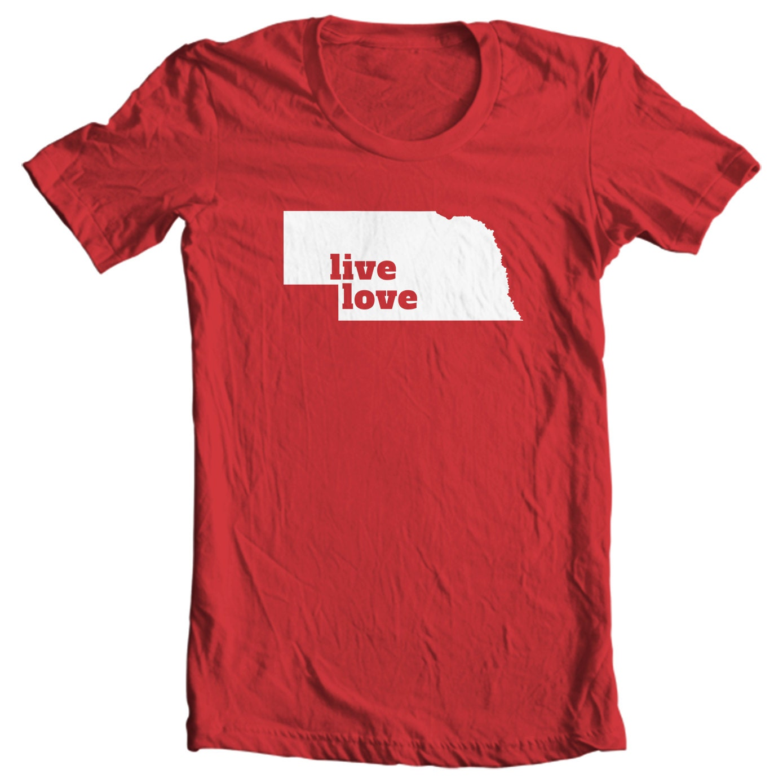 Nebraska T-shirt - Live Love Nebraska - My State Nebraska T-shirt