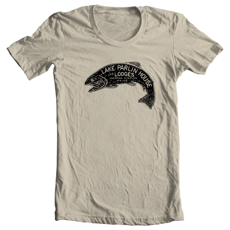 Lake Parlin House & Lodges - Jackman Station Maine Vintage Travel Sticker T-shirt