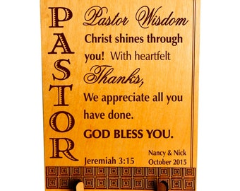Custom Pastor Appreciation Gift, Thank you Pastor Gift, Gift to my Pastor / Bishop / Priest, Church appreciation to Pastor. PLP048