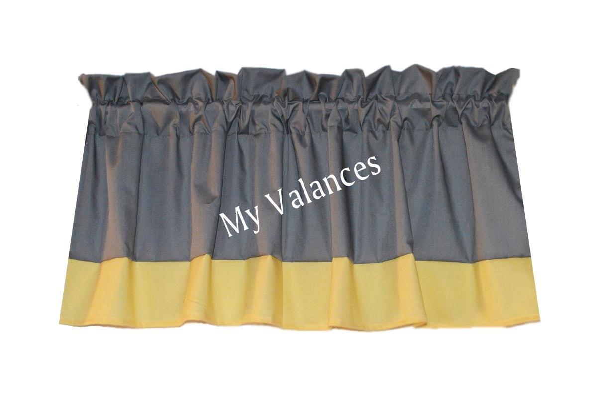 yellow grey curtains  etsy, Bedroom decor
