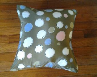 Brown Polka Dot Pillowcase