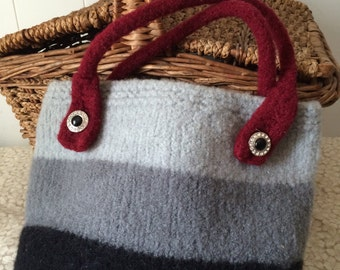 CLEARANCE PRICE!!!   Felted Wool Bucket Bag