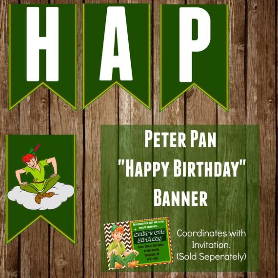 Digital Happy Birthday Disney's Peter Pan By HattieMaeDesigns
