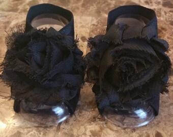 Rag Rose Baby Black Barefoot Sandals