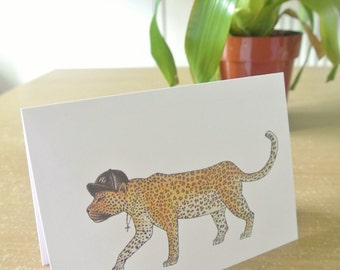 New York Yankees Leopard Greeting Card