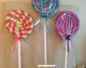 set of 4 Big lollipop/poolnoodles lollipop