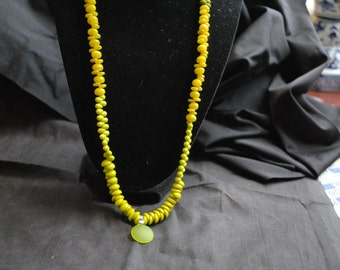 Chartreuse Glass Necklace