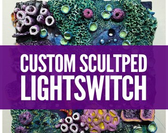 Custom Aquatic Sculpted Lightswitch Plate