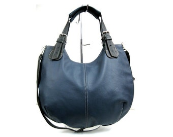EVERYDAY Navy Blue LEATHER BAG Crossbody Casual Leather Shoulder Bag