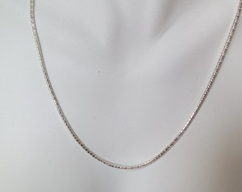 Sterling silver necklace chain, 18 inches, free shipping