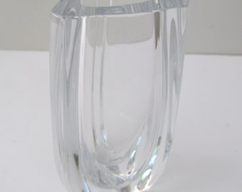 Heavy Crystal Triangle Baccarat Vase Made in France