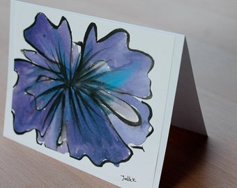 Flower Art Print Greeting Card