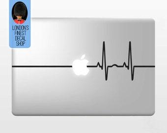 Heart Beat - Macbook Vinyl Decal Sticker / Laptop Decal / iPad Sticker