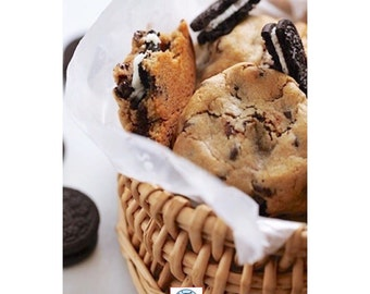 Oreo stuffd chocolate chip cookie