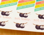 Lazy Day Stickers | Sloth Stickers (#003)
