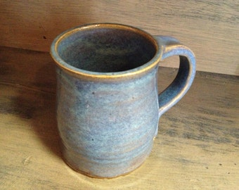 Rutile Blue Wheel Thrown Pottery Mug