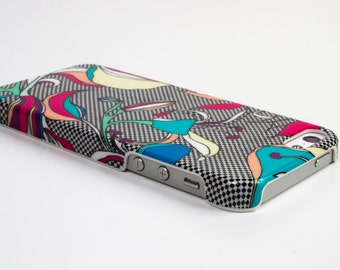 Graphic and feminine case Iphone 5 / 5s iris pattern