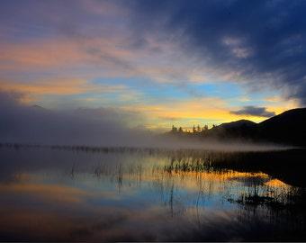 Adirondack Mountain Sunrise Photograph, Lake Placid, Adirondack Mountain Photography, Sunrise Photography, Sunrise Print, Wall Art