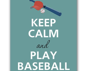 Keep calm and play baseball  Digital Image Download  instant download
