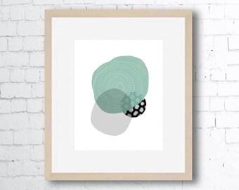 Nature, Mint Green , Abstract, Art Print, Printable Art, Downloadable Print, Wall Print, Home Decor, Minimalist Art, Minimal Art Print
